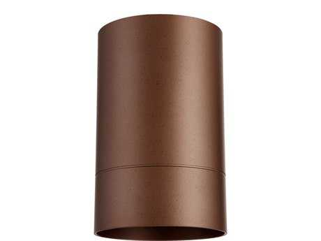 Quorum International Oiled Bronze Outdoor Flush Mount Light