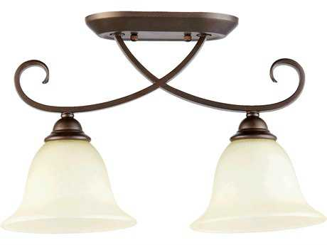 Quorum International Celesta Oiled Bronze Two-Lights Semi-Flush Mount Light