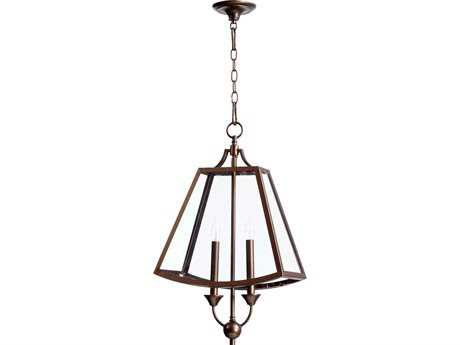 Quorum International Kaufmann Oiled Bronze Two-Light 15'' Wide s Mini Chandelier