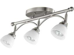 Quorum International Brooks Satin Nickel Three-Light 21'' Long Rail Light