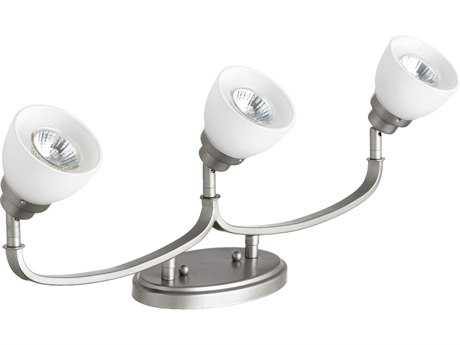 Quorum International Reyes Classic Nickel Three-Lights Rail Light