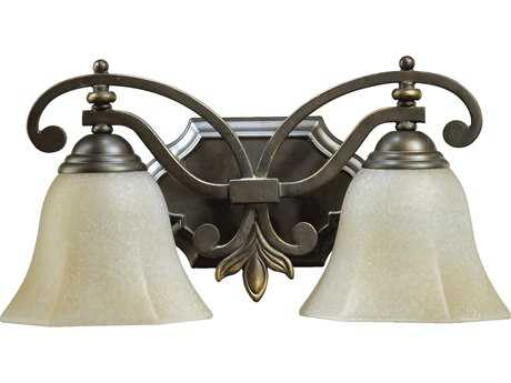 Quorum International Marcela Oiled Bronze Two-Lights Vanity Light