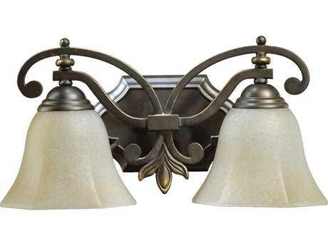 Quorum International Marcela Oiled Bronze Two-Lights Vanity Light
