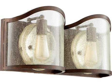 Quorum International Salento Vintage Copper Two-Light Vanity Light