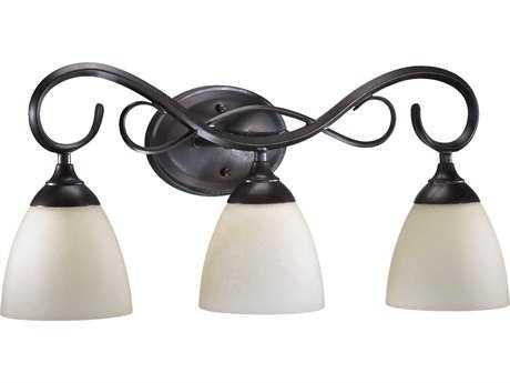 Quorum International Powell Toasted Sienna Three-Lights Vanity Light