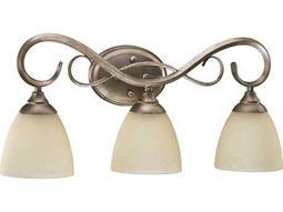 Quorum International Powell Mystic Silver Three-Lights Vanity Light