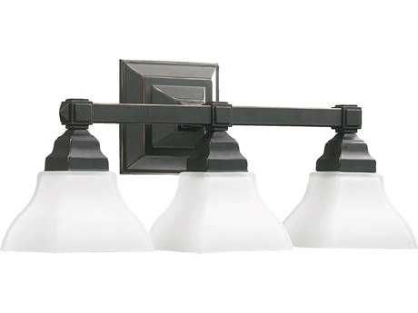 Quorum International Craftsman Collection Old World Three-Lights Vanity Light