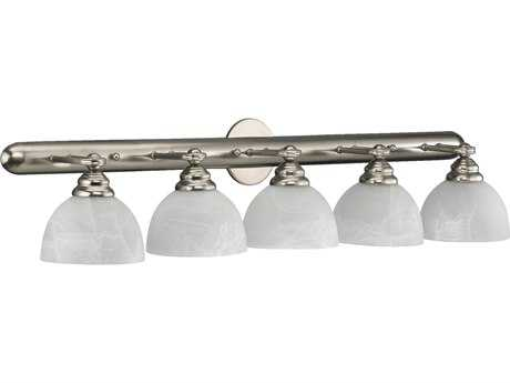 Quorum International Hemisphere Satin Nickel Five-Lights Vanity Light