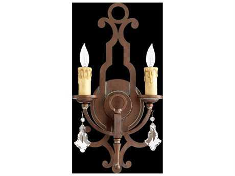 Quorum International Montgomery Vintage Copper Two-Light Wall Sconce