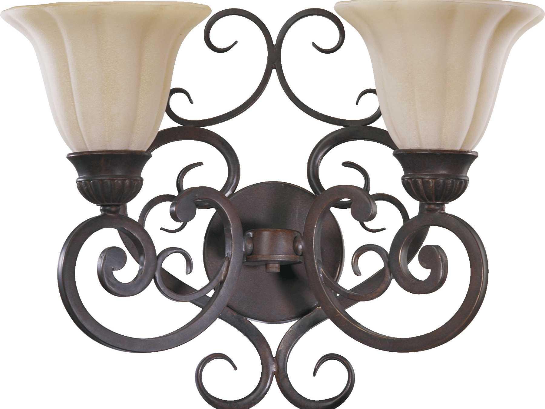 Quorum international coronado gilded bronze two lights for International decor wall lights