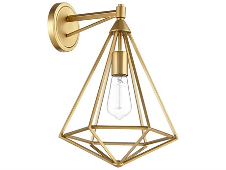 Quorum International Bennett Aged Brass Wall Sconce