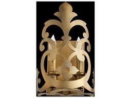 Quorum International Charlton Aged Brass Two-Light Wall Sconce
