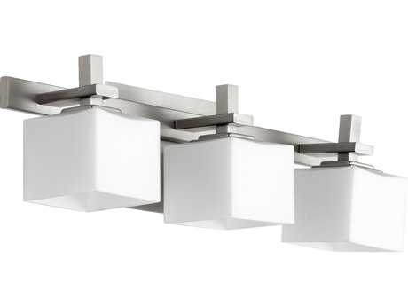Quorum International Satin Nickel Three-Lights Vanity Light