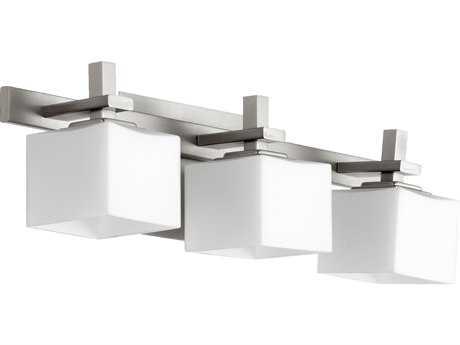 Quorum International Satin Nickel Three-Lights Vanity Light