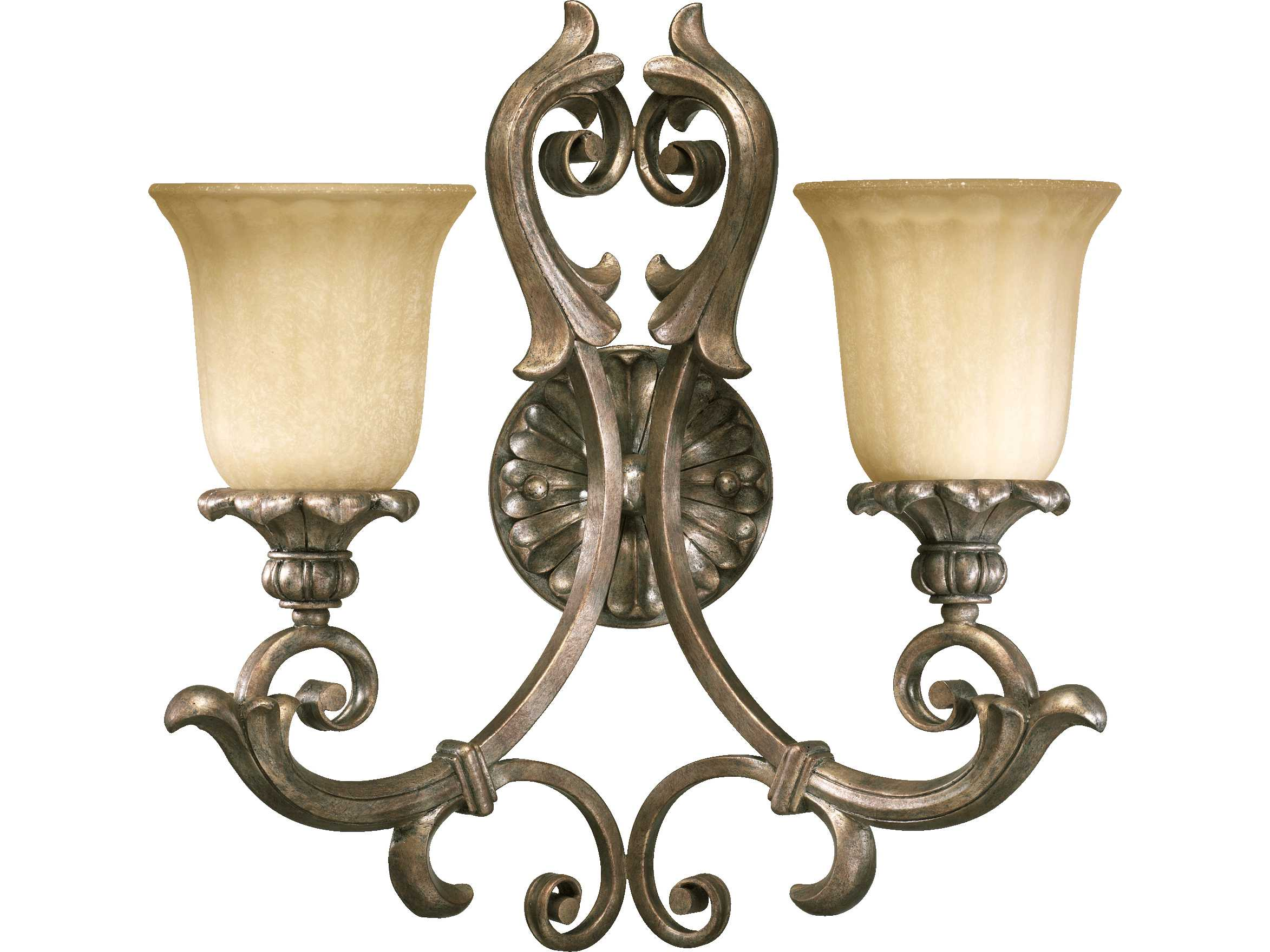 Quorum international barcelona mystic silver two lights for International decor wall lights