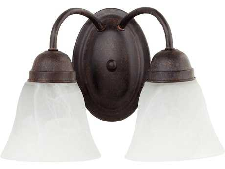 Quorum International Toasted Sienna Two-Lights Vanity Light