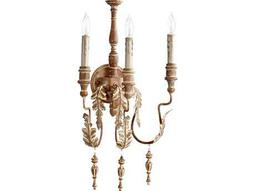 Quorum International Salento French Umber Three-Lights Wall Sconce