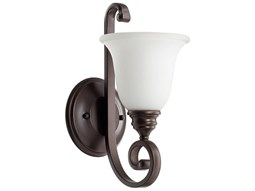 Quorum International Bryant Oiled Bronze With Satin Opal Wall Sconce