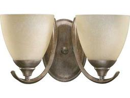 Quorum International Powell Mystic Silver Two-Lights Wall Sconce