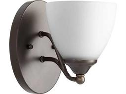 Quorum International Brooks Oiled Bronze with Satin Opal Wall Sconce