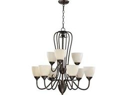Quorum International Powell Toasted Sienna Nine-Light 29'' Wide Chandelier
