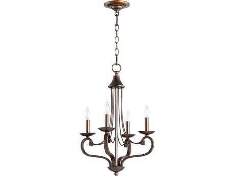 Quorum International Lariat Oiled Bronze Four-Light 15'' Wide Chandelier