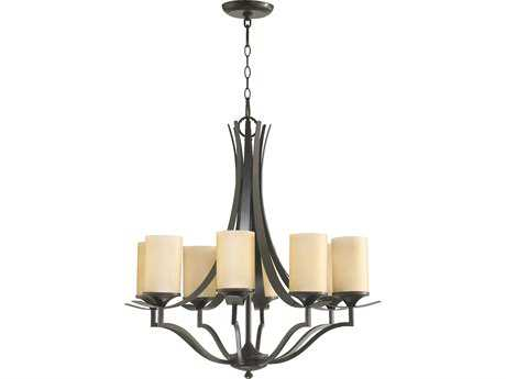 Quorum International Atwood Oiled Bronze Eight-Light 28'' Wide Chandelier