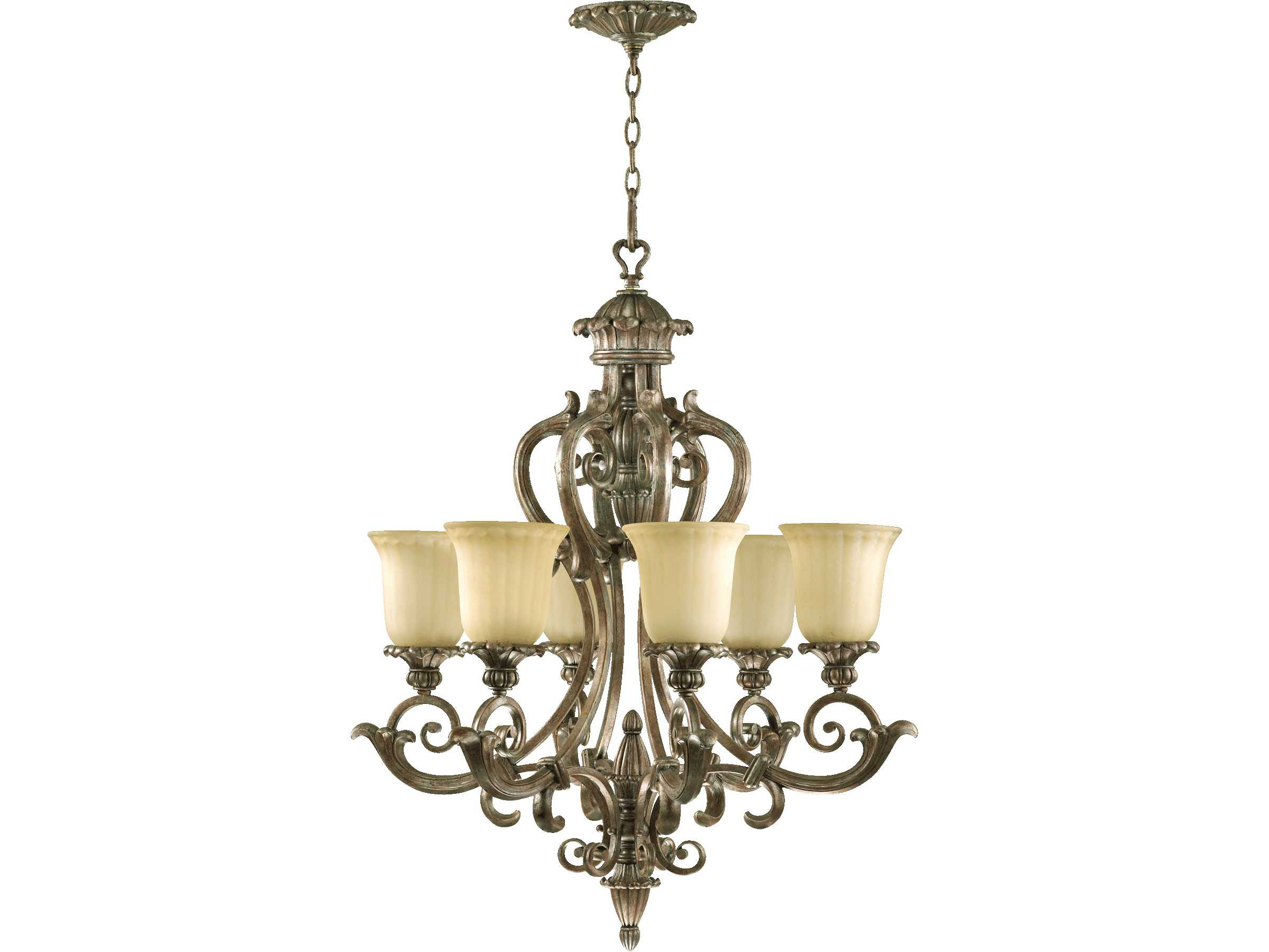 Mystic silver and company - Quorum International Barcelona Mystic Silver Six Light 28 Wide Chandelier