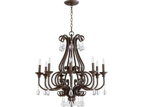 Quorum International Anders Oiled Bronze Nine-Light 30'' Wide Chandelier