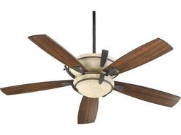 Quorum International Mendocino Toasted Sienna 52 Inch Indoor Ceiling Fan with Light
