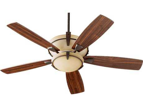 Quorum International Mendocino Oiled Bronze 52 Inch Indoor Ceiling Fan with Light