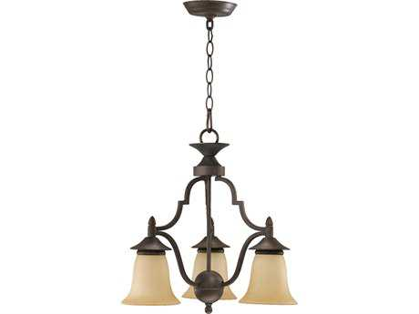 Quorum International Coventry Toasted Sienna Three-Light 19'' Wide s Mini Chandelier
