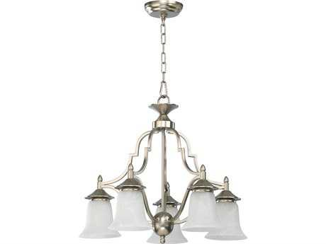 Quorum International Coventry Satin Nickel Five-Light 22'' Wide s Mini Chandelier