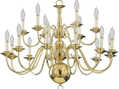 Quorum International Polished Brass 18-Light 32'' Wide Chandelier