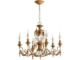 Quorum International Salento French Umber Six-Light 28'' Wide Chandelier