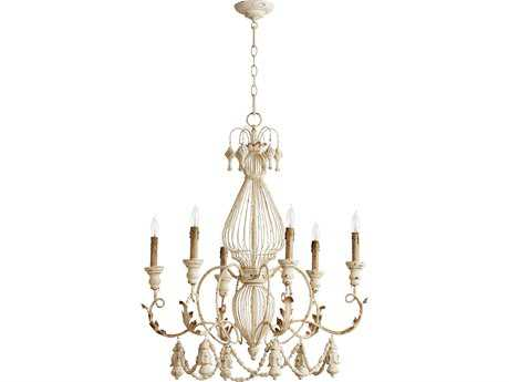 Quorum International Salento Persian White Six-Light 28'' Wide Chandelier