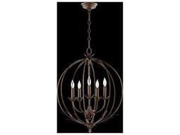 Quorum International Flora Vintage Copper Five-Light 20'' Wide Standard Chandelier