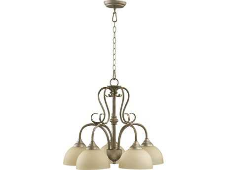 Quorum International Powell Mystic Silver Five-Light 22'' Wide s Mini Chandelier