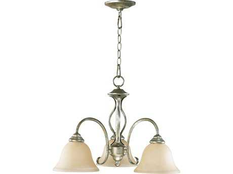Quorum International Spencer Mystic Silver Three-Light 21'' Wide s Mini Chandelier