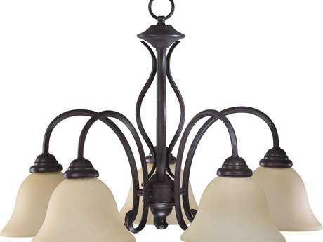 Quorum International Spencer Toasted Sienna Five-Light 24'' Wide s Mini Chandelier