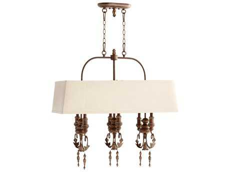 Quorum International Salento Vintage Copper Six-Light 32'' Long Island Light