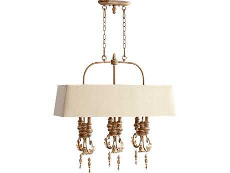 Quorum International Salento French Umber Six-Lights Island Light