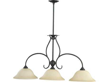 Quorum International Spencer Old World Three-Lights Island Light