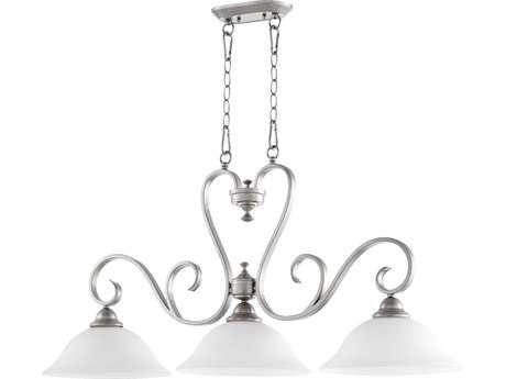 Quorum International Celesta Classic Nickel Three-Lights Island Light