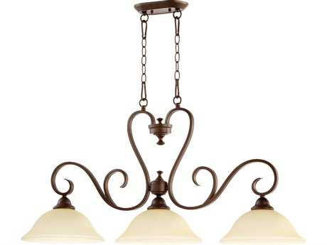 Quorum International Celesta Oiled Bronze Three-Lights Island Light