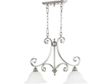 Quorum International Bryant Classic Nickel Two-Lights Island Light
