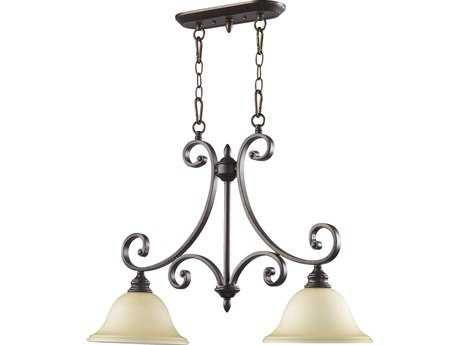 Quorum International Bryant Oiled Bronze Two-Lights Island Light