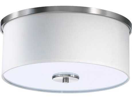 Quorum International CIRRUS Satin Nickel Two-Lights Flush Mount Light