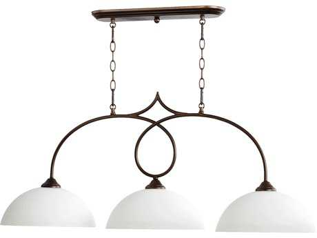 Quorum International Brooks Oiled Bronze Three-Lights Island Light