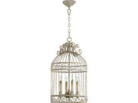 Quorum International Manchester Gray Four-Lights Pendant Light